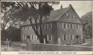 Wilmington DE Friends Meeting House Postcard