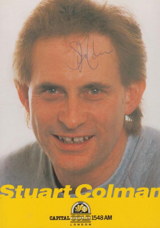 Stuart Colman Record Producer DJ Capital Radio 1 Vintage Hand Signed Card Photo