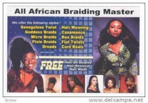 Ad, All African Braiding Master, Knightdale, North Carolina, 40-60s