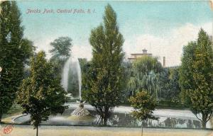 Central Falls Rhode Island~Willow & Other Great Trees: Jencks Park Fountain 1908