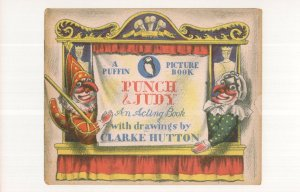 Punch & Judy Show WW2 Puffin Picture Book postcard
