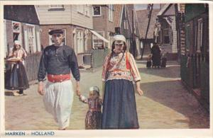 Netherlands Marken Street Scene with Family