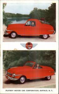Auto Car Advertising Playboy Motor Car Corp Buffalo NY Old Postcard