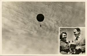 netherlands, Roosendaal - De Kaai Erato Flying Hot Air Balloon (1955) RPPC