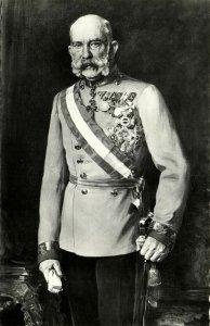 austria, Emperor Franz Joseph I in Uniform, Medals (1950s) Postcard