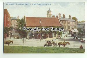 tp9573 - Kent - Early View of  King Charles' Church, Tunbridge Wells - postcard