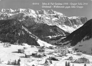 Italy Selva di Val Gardena Gruppo Sella, Grodental Wolkenstein Panorama