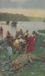 Teddy Roosevelt in Africa , Hunting Crocodiles , 00-10s