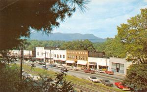 Tryon North Carolina~Downtown~Railroad Tracks Across Businesses~1960-70s Cars