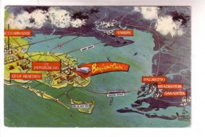 Overhead Pictorial,Topographic Map of Florida, Suncoast