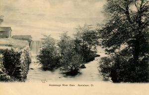 CT - Danielson.  Assawauga River Dam