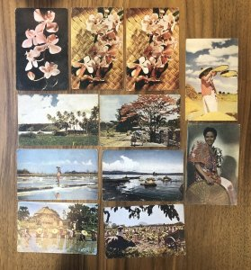 Lot Of 11 : Vintage Color Post Card Philippines Kodachrome Manila