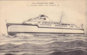 The Streamlined Ferry, SS Princess Anne, Cape Charles, Virginia, 1930s
