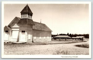 Almont-Tincup Colorado~Chapel w/Corner Tower~Real Photo Postcard~RPPC c1940 PC