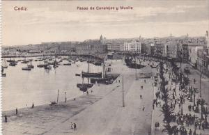 CADIZ (Andalucia), Spain, 1900-1910s; Paseo De Canalejas Y Muelle
