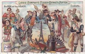 Liebig Vintage Trade Card S649 Earth &amp  Its Inhabitants 1900 Europe