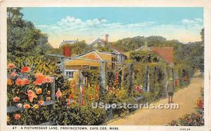 Picturesque Lane in Provincetown Cape Cod MA 1931