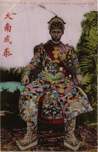 CPA Annam Hué- Empereur d'Annam en costume de Cour. VIETNAM Indochina (715255)