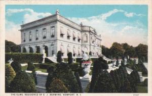 Rhode Island Newport The Elms Residence Of E J Berwind Curteich
