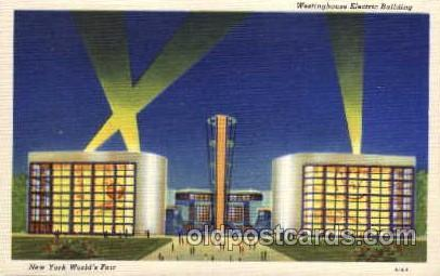 New York Worlds Fair 1939 exhibition postcard Post Card  Westinghouse Bldg.