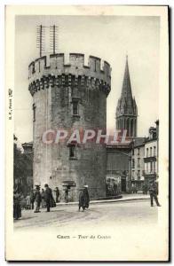 Old Postcard Caen La Tour Center
