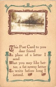 Steamboat Rock Iowa~River Scene Real Photo on Poem Postcard~1912