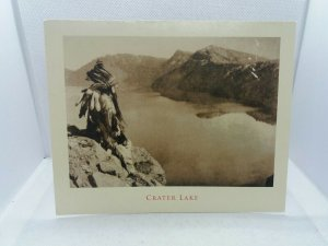 Native American Indian Chief by Crater Lake Oregon Postcard Slightly Damaged