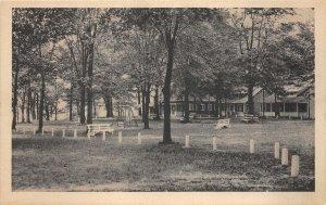 F51/ Chippewa Lake Medina Ohio Postcard c1910 Cottages Swing Park 7