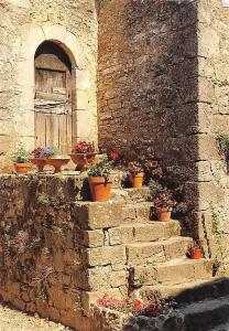 France Village Meridional Old House Stairs Flowers
