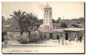 Old Postcard Sidi Okba's Mosque