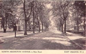 East Orange New Jersey North Arlington Avenue Antique Postcard K57681