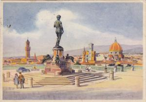 Italy Firenze Piazzole Michelangiolo 1947