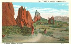 Garden of the Gods from Hidden Inn, Colorado Springs earl...