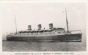 RP; Furness Bermuda Line, Q. T.E.V. Monarch of Bermuda, 1920-30s