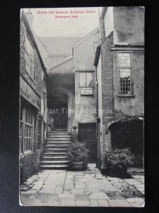 Norfolk QUAINT OLD NORWICH Strangers Hall Entrance Court - Old Postcard