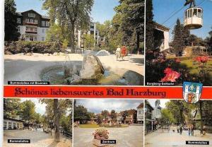 Bad Harzburg Bummelallee mit Brunnen, Zentrum, Burgberg-Seilbahn, Allee