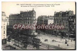 Postcard Old Saint Mande Panoramic View From I'Avenue De La Tourelle Paris Av...