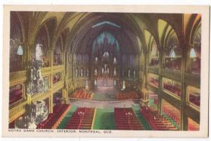 Notre Dame Church, Montreal