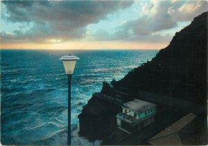 Postcard Italy LE CINQUE TERRE - RIOMAGGIORE Sun-set
