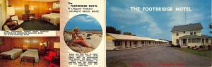 Ogunquit Beach ME Footbridge Motel US 1 Beach View Postcard Brochure