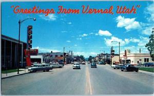 1950s Main Street, Veranl, Utah - Chevron Service Station z8