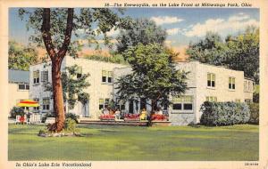 Mitiwanga Park Ohio Keewaydin On Lake Front Linen Antique Postcard K21464