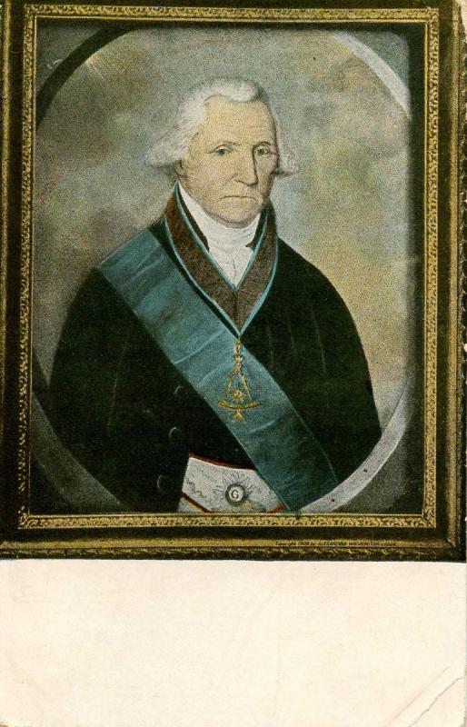 Gen. George Washington in Masonic Regalia.   Artist: Williams