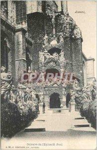 Old Postcard Antwerp Calvary Church St Paul