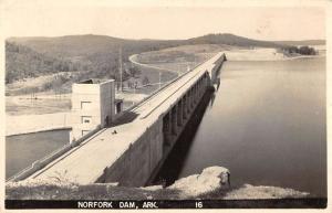 Northern Arkansas panoramic view Norfolk Dam real photo pc ZA440403