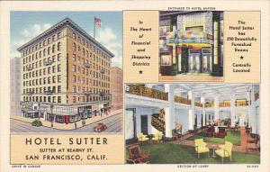 California San Francisco Hotel Sutter Curteich
