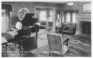 Living Room Northampton, Massachusetts Postcard