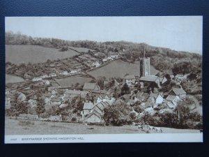 Devon BERRYNARBOR Showing HAGGINTON HILL - Old Postcard
