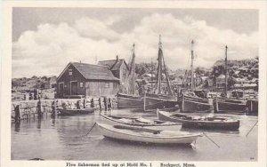 Massachusetts Rockport Five Fishermen Tied Up At Motif No 1 Albertype