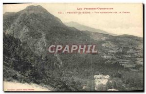 Old Postcard Vernet les Bains View Sinking of the casino